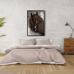 Framed 24 x 36 - Proud brown horse