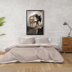 Framed 24 x 36 - Abstract buffalo
