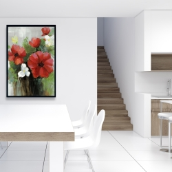 Framed 24 x 36 - Abstract wild flowers bundle