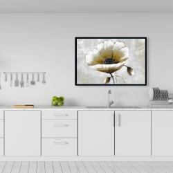 Framed 24 x 36 - Modern beige flower