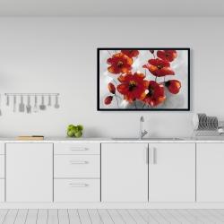 Framed 24 x 36 - Anemone flowers