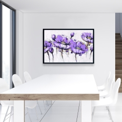 Framed 24 x 36 - Abstract purple flowers