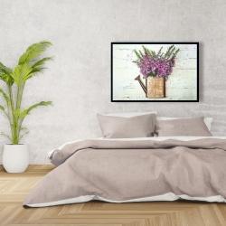 Framed 24 x 36 - Purple foxglove flowers