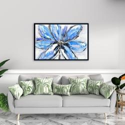 Framed 24 x 36 - Blue flower