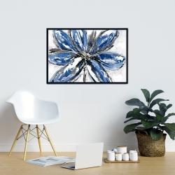 Framed 24 x 36 - Blue petal