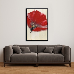 Framed 24 x 36 - Two red flowers