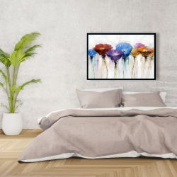 Framed 24 x 36 - Colorful flowers