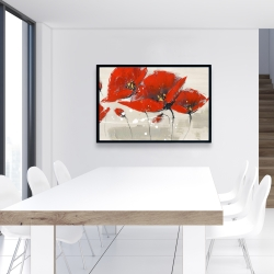 Framed 24 x 36 - Red flowers with an handwritten typo