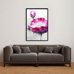 Framed 24 x 36 - Fuchsia wild flower