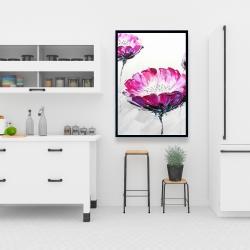 Framed 24 x 36 - Pink wild flowers