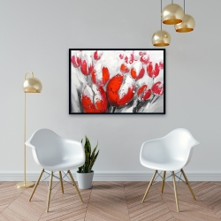 Framed 24 x 36 - Red tulips