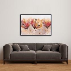 Framed 24 x 36 - Four little flowers