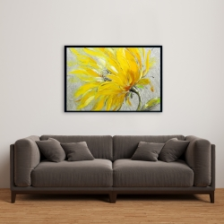 Framed 24 x 36 - Yellow flower