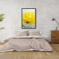 Framed 24 x 36 - Yellow fluffy flower