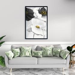 Framed 24 x 36 - Assorted white flowers