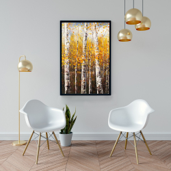 Framed 24 x 36 - Birches by sunny day