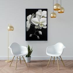 Framed 24 x 36 - White orchids