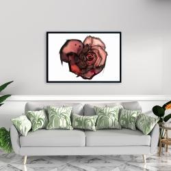 Framed 24 x 36 - Dark rose