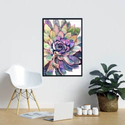 Framed 24 x 36 - Multicolored succulent