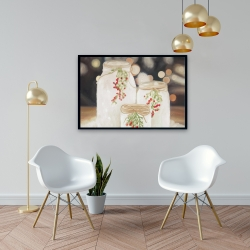 Framed 24 x 36 - Christmas candles