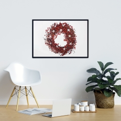 Framed 24 x 36 - Red berry wreath