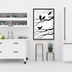 Framed 24 x 36 - Silhouette of birds