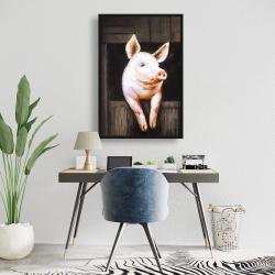 Framed 24 x 36 - Smiling pig
