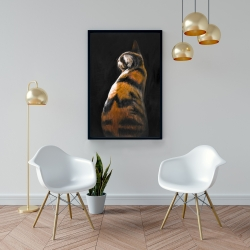 Framed 24 x 36 - Spotted cat