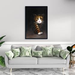 Framed 24 x 36 - Discreet cat