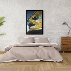 Framed 24 x 36 - Golden trout with fly fishing flie