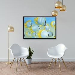 Framed 24 x 36 - Butterfly fishes