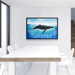 Framed 24 x 36 - Blue whale