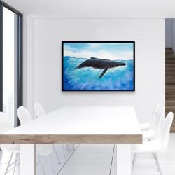 Framed 24 x 36 - Blue whale