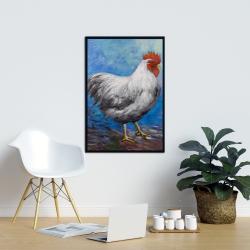 Framed 24 x 36 - Grey rooster