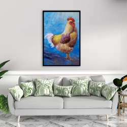 Framed 24 x 36 - Beautiful rooster
