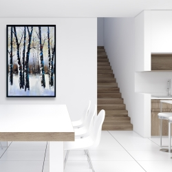 Framed 24 x 36 - Frosted trees