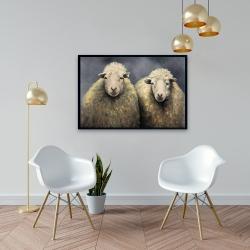 Framed 24 x 36 - Wool sheeps