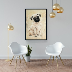 Framed 24 x 36 - Small pug