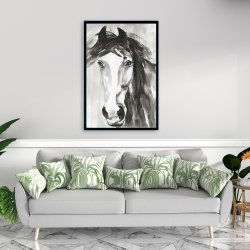Framed 24 x 36 - Beautiful wild horse