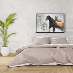 Framed 24 x 36 - Abstract herd of horses