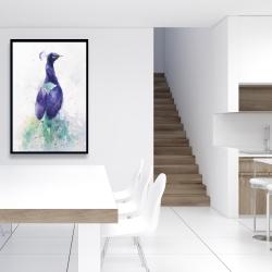 Framed 24 x 36 - Graceful peacock