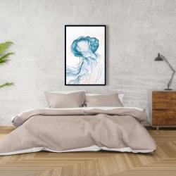 Framed 24 x 36 - Jellyfish moving