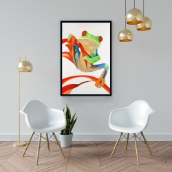 Framed 24 x 36 - Red-eyed frog