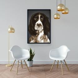 Framed 24 x 36 - Brown english springer spaniel