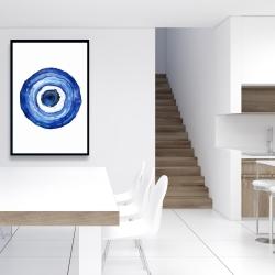 Framed 24 x 36 - Erbulus blue evil eye