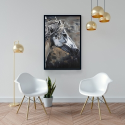 Framed 24 x 36 - Side of a wild horse