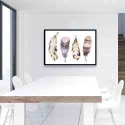 Framed 24 x 36 - Purple feather set