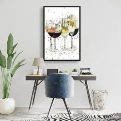Framed 24 x 36 - Beautiful wine glasses