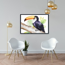 Framed 24 x 36 - Toucan perched