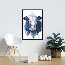 Framed 24 x 36 - Watercolor cow